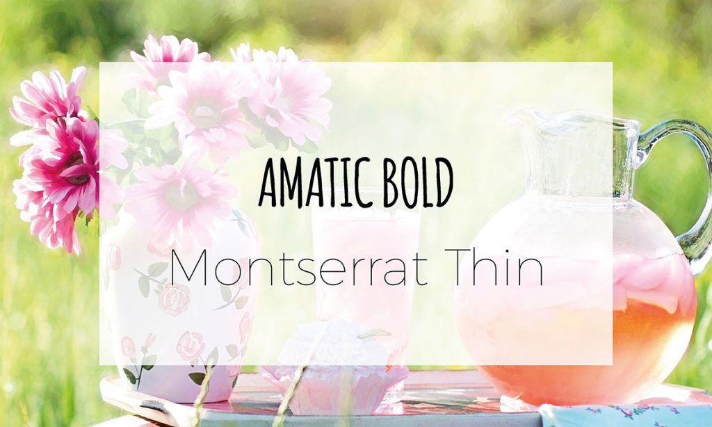Amatic, Monserrat, font, digital marketing, brand, grafica, social media