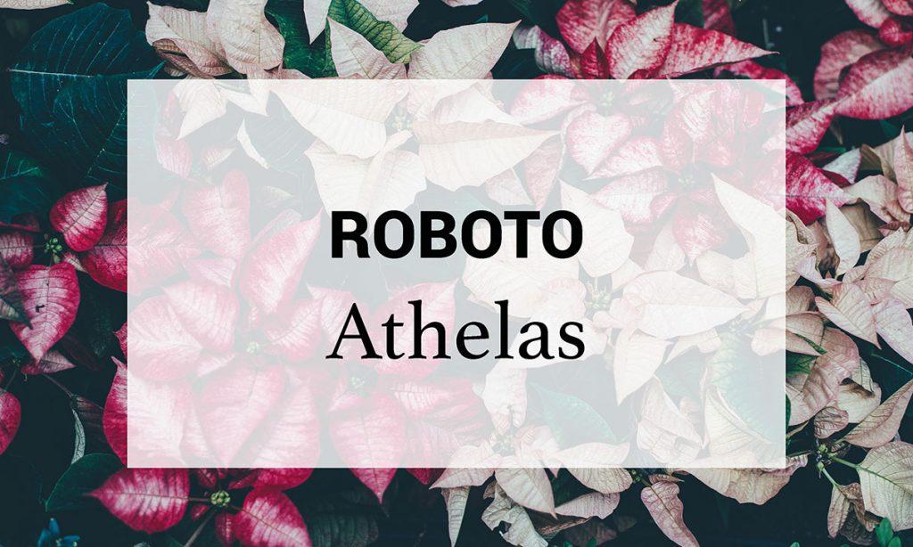 Roboto, Athelas, font, digital marketing, brand, grafica, social media