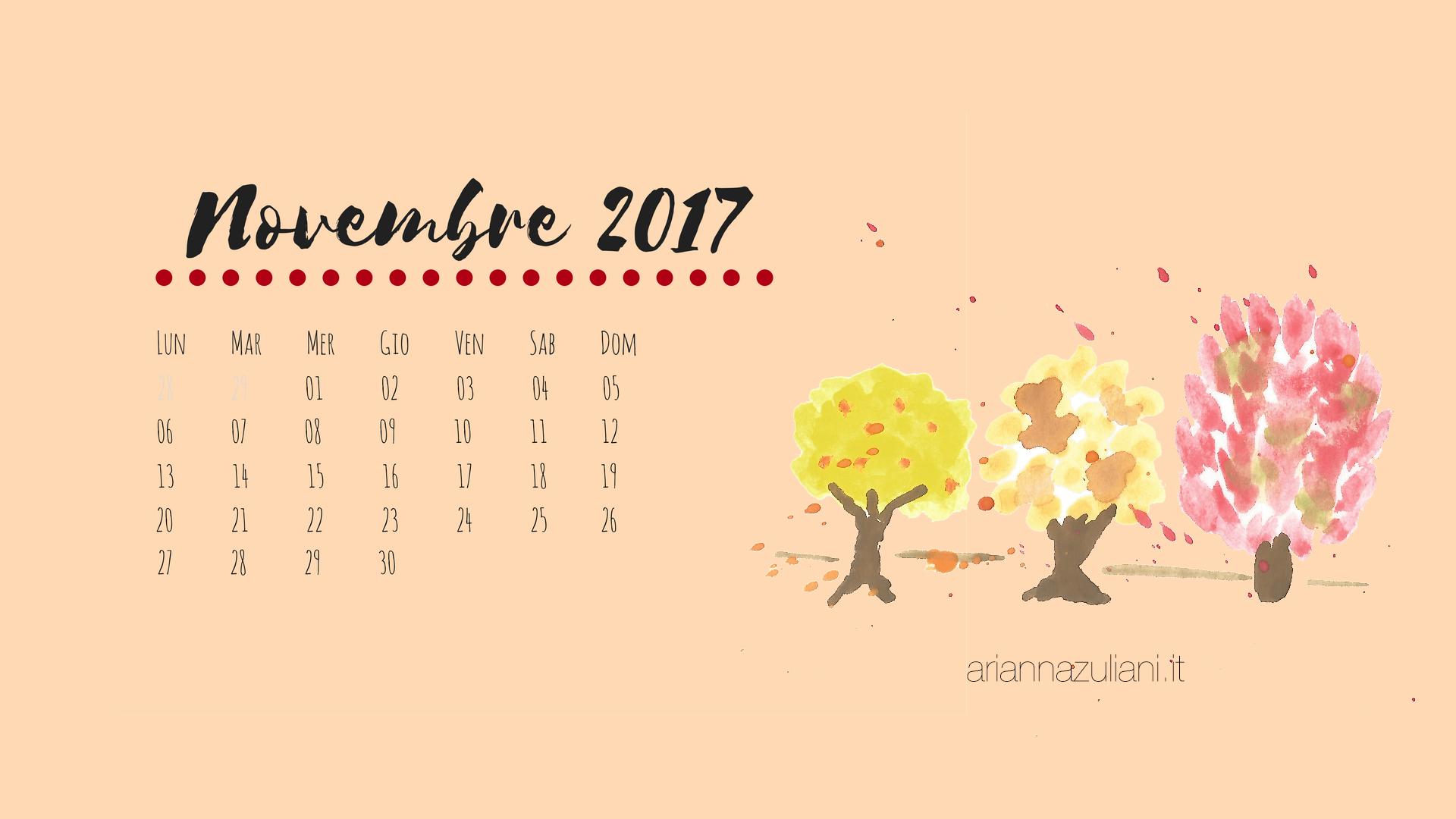 calendario, calendar, novembre, novembre, stampabili, printable, social media